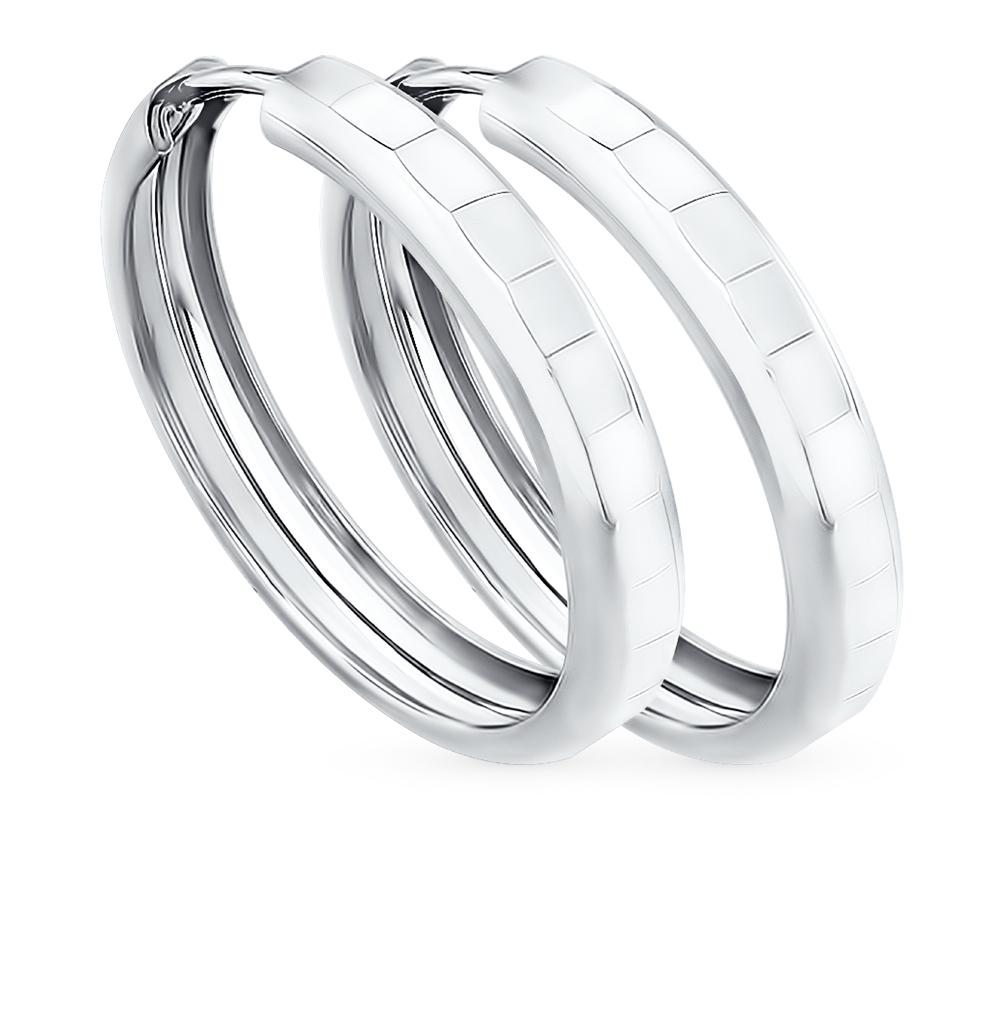 серебряные серьги SOKOLOV 94140062