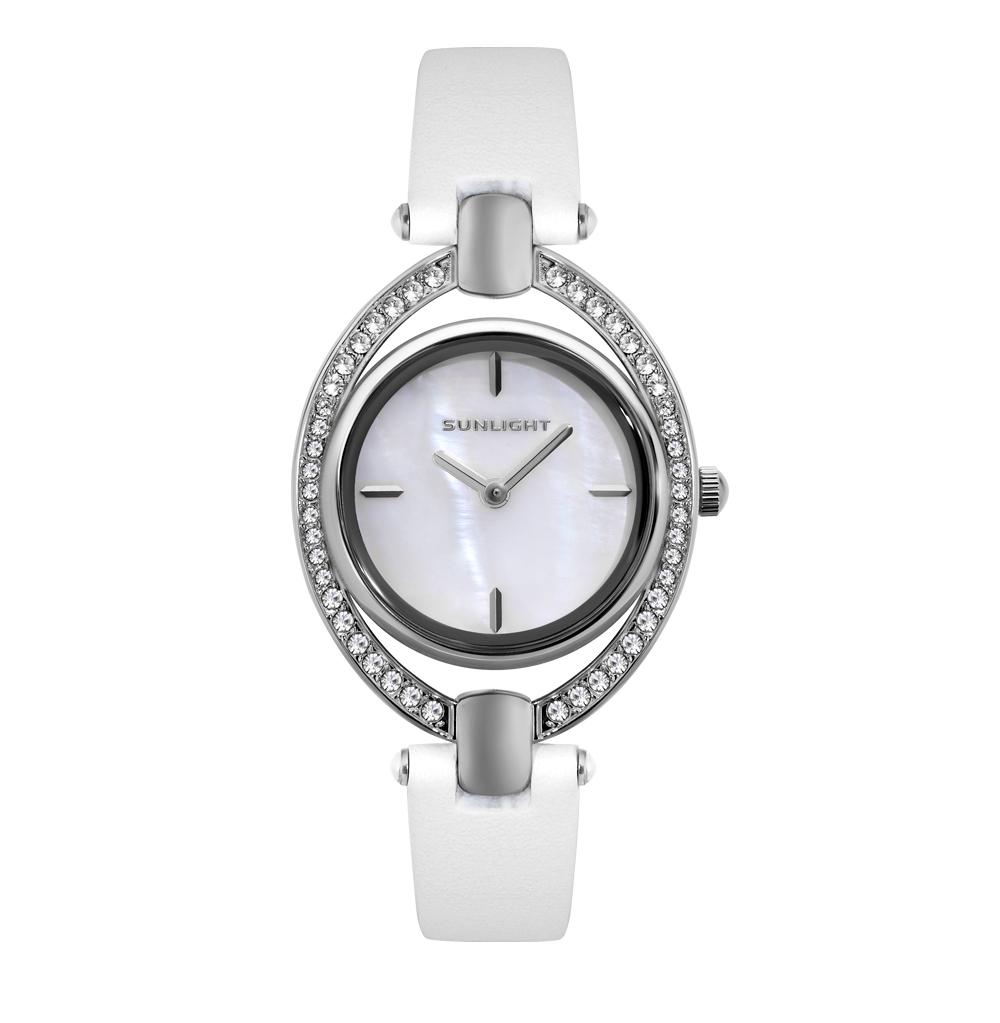 Женские часы на белом ремне из натуральной кожи в Екатеринбурге