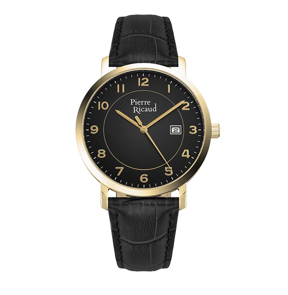 Мужские часы P97229.1224Q на кожаном ремешке с минеральным стеклом
