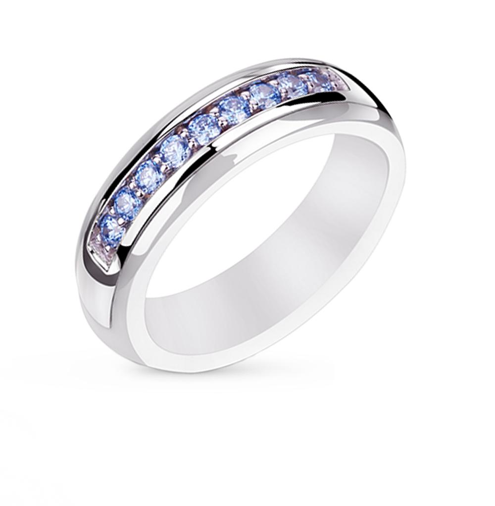 Фото «кольцо из керамики и серебра с фианитами»