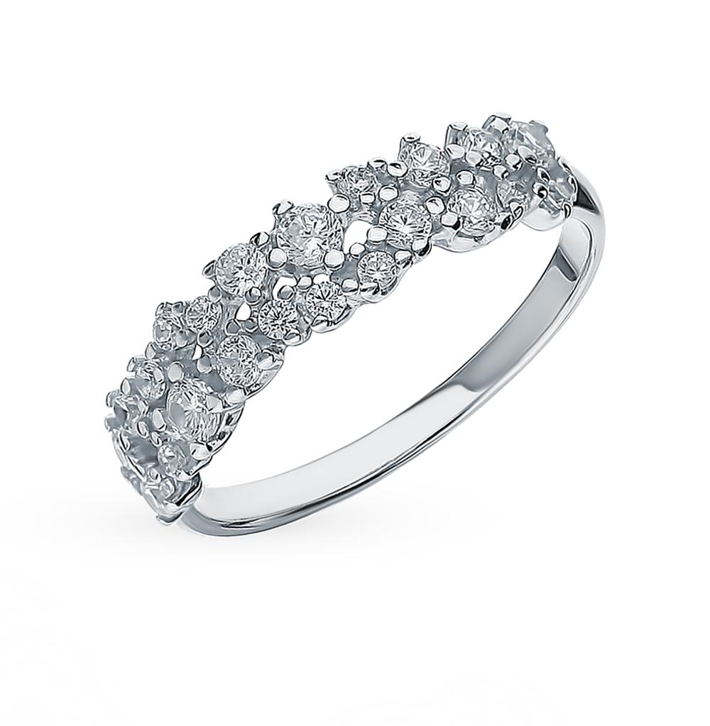 серебряное кольцо с фианитами SOKOLOV 94012971