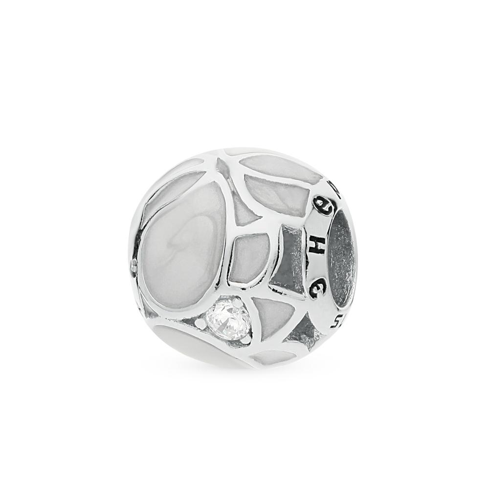 Фото «серебряная подвеска с фианитами и эмалью»