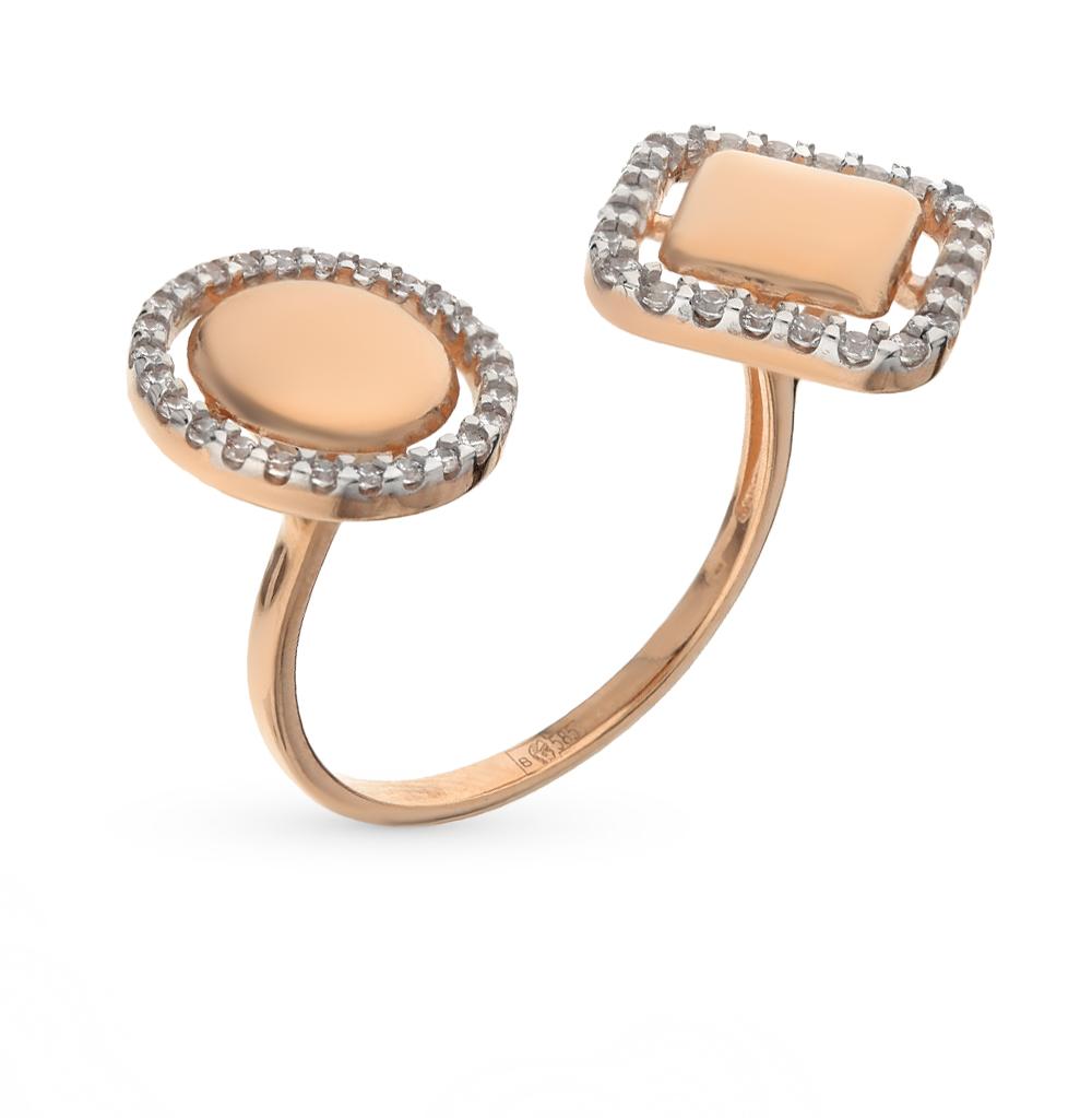 Золотое кольцо с фианитами SOKOLOV 017076* в Екатеринбурге