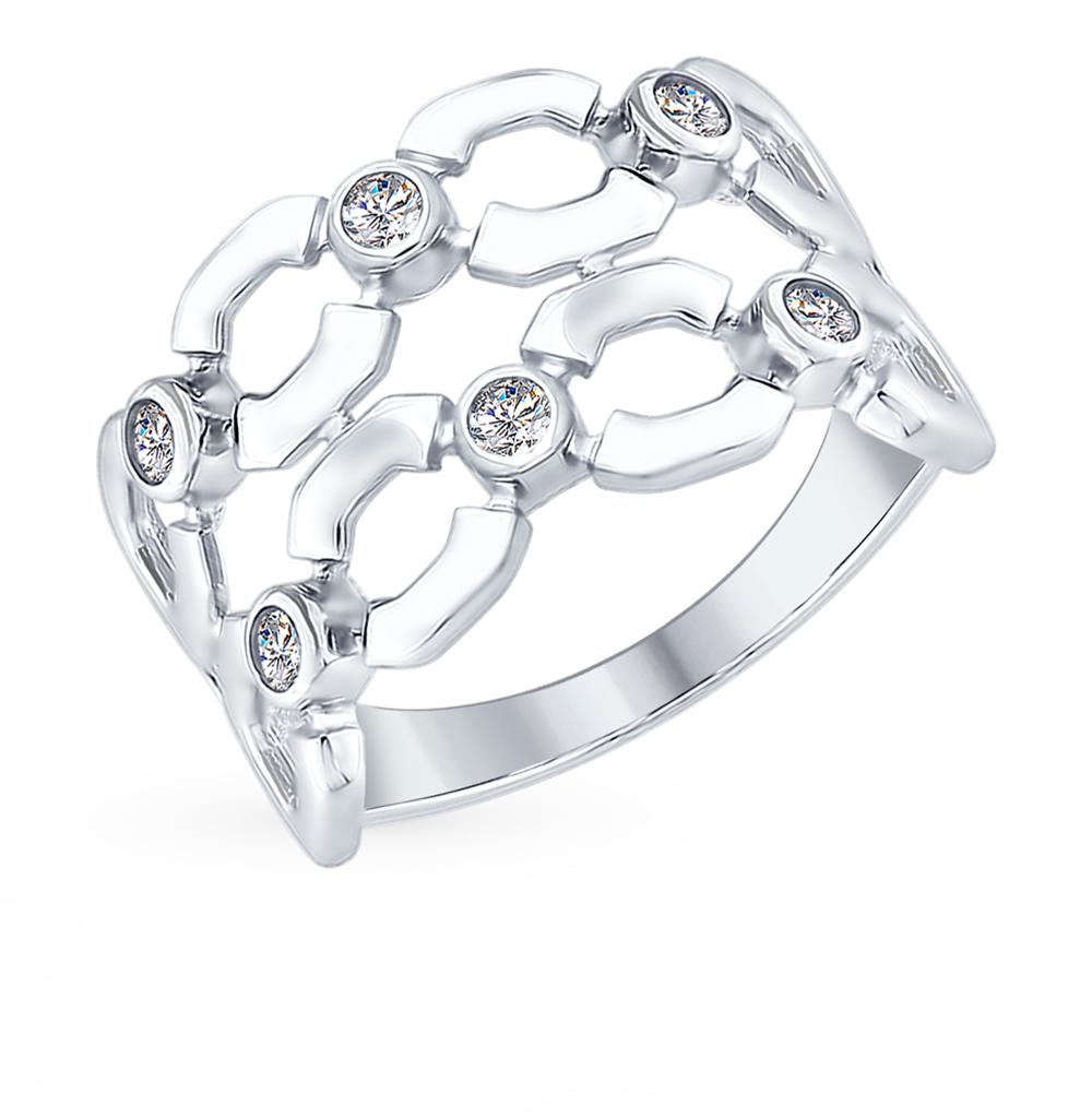 серебряное кольцо с фианитами SOKOLOV 94012442