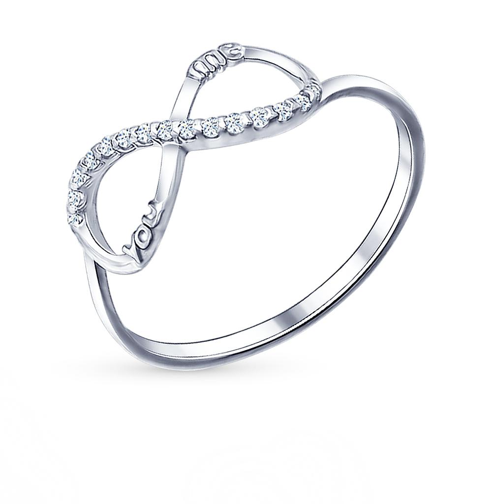 серебряное кольцо с фианитами SOKOLOV 94011436
