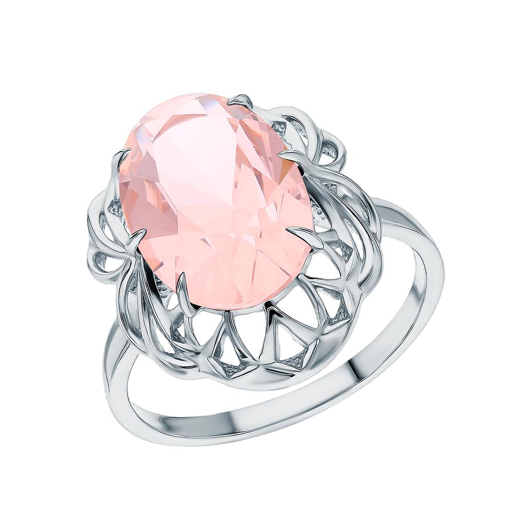 Серебряное кольцо с морганитами в Екатеринбурге