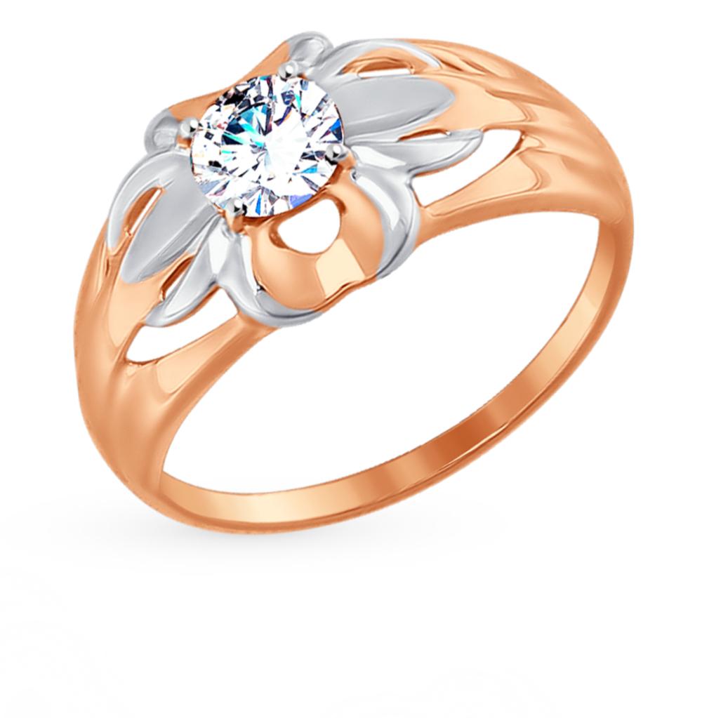 золотое кольцо с фианитами SOKOLOV 017428*