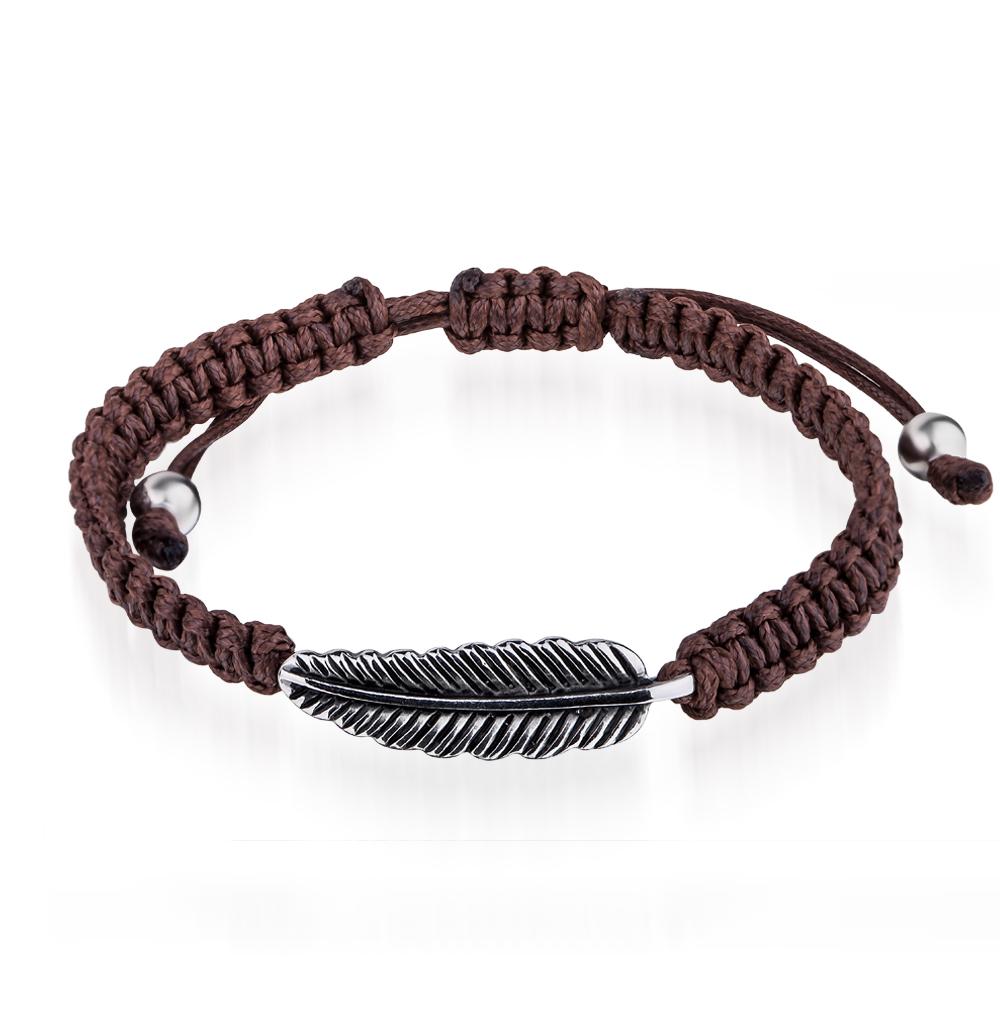 Фото «браслет из текстиля с со сталью и эмалью»
