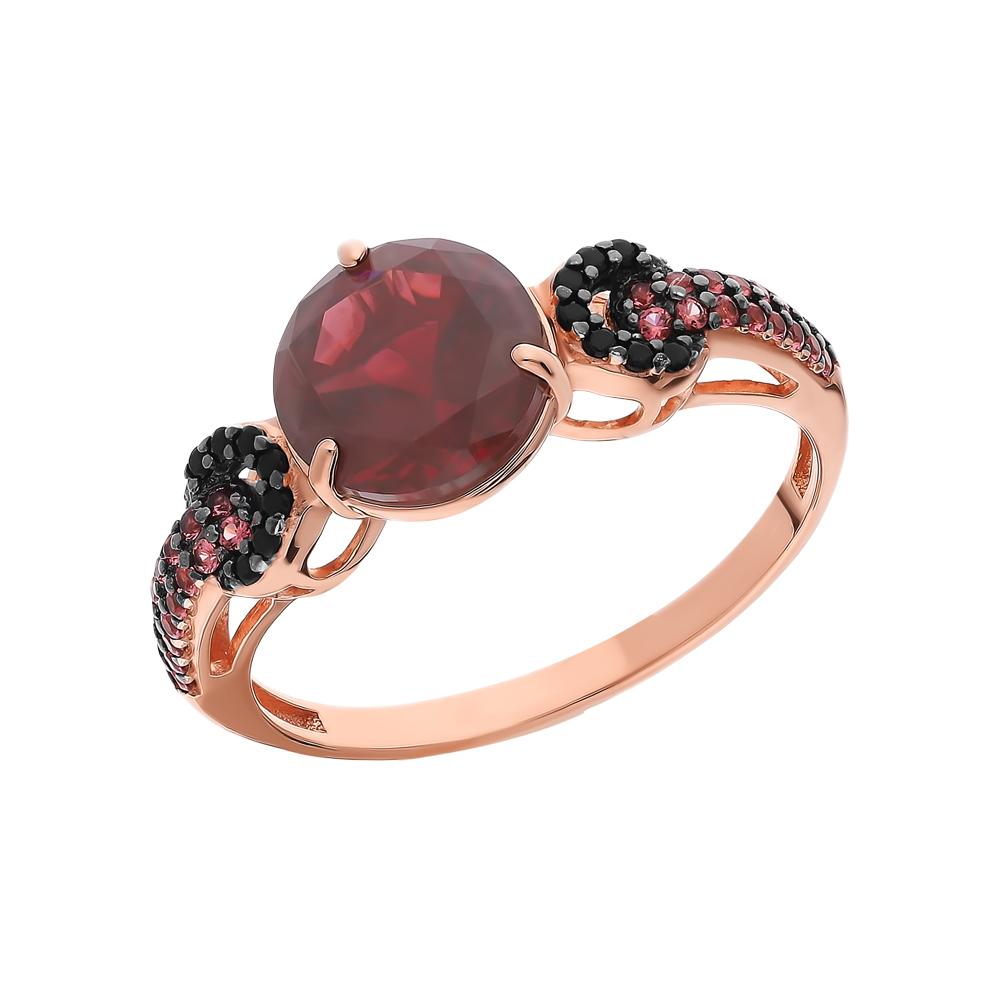 Фото «Серебряное кольцо с турмалинами, нанокристаллами и гранатом»