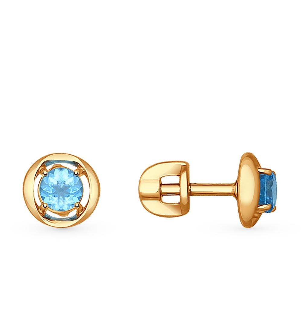 Золотые серьги с топазами SOKOLOV 724596* в Санкт-Петербурге