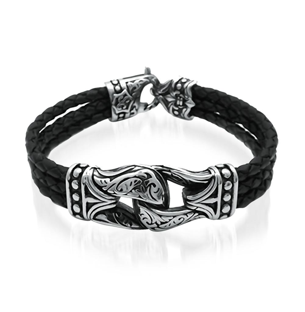 Фото «браслет из стали с со сталью и эмалью»