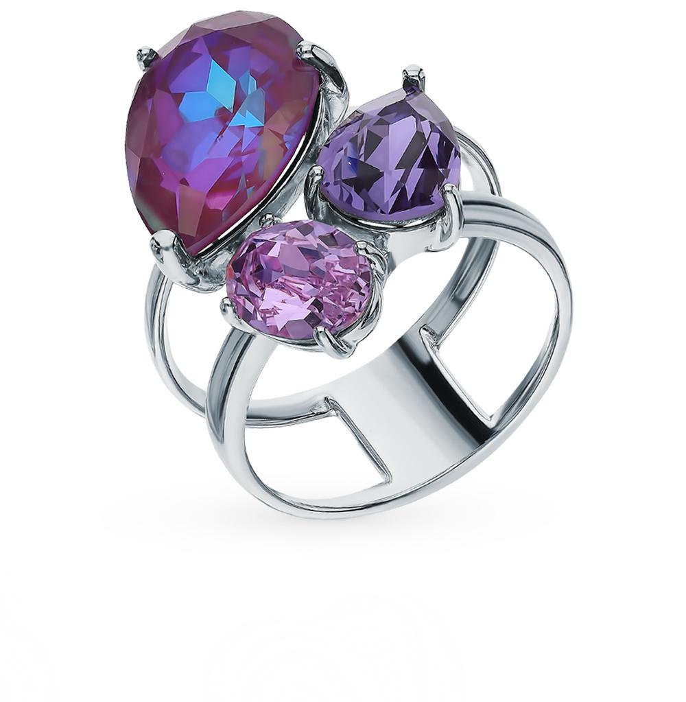 Серебряное кольцо с кристаллами SOKOLOV 94013072 в Екатеринбурге