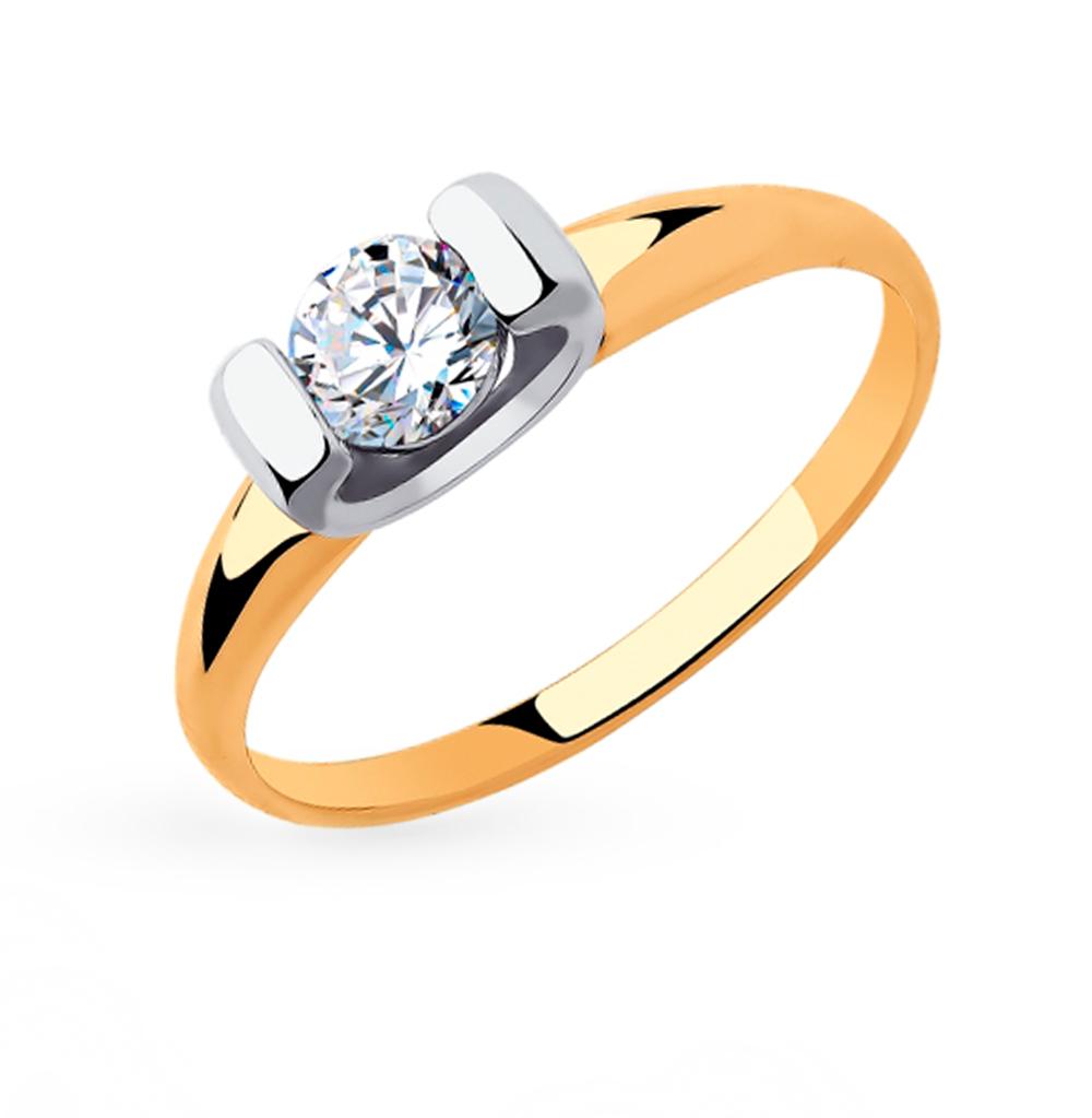 золотое кольцо с фианитами SOKOLOV 018307