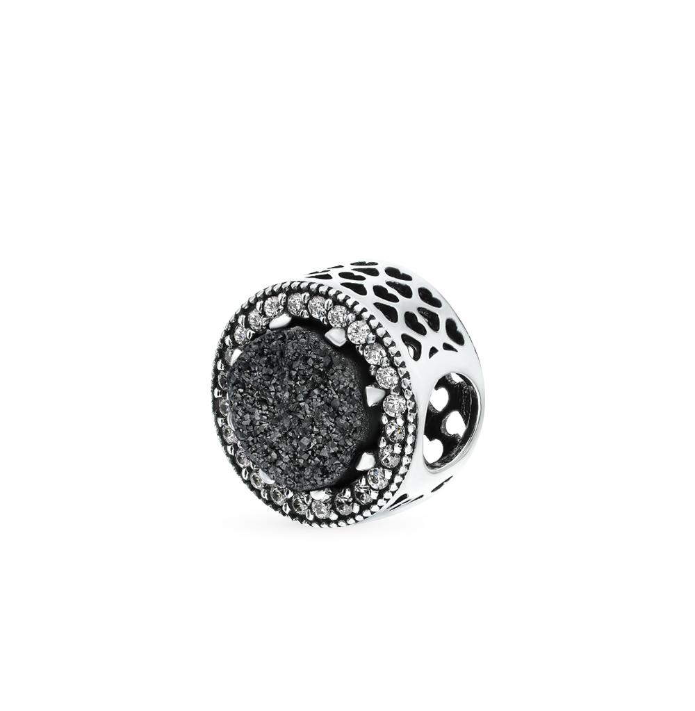 Фото «Серебряная подвеска-шарм с кристаллами и фианитами»