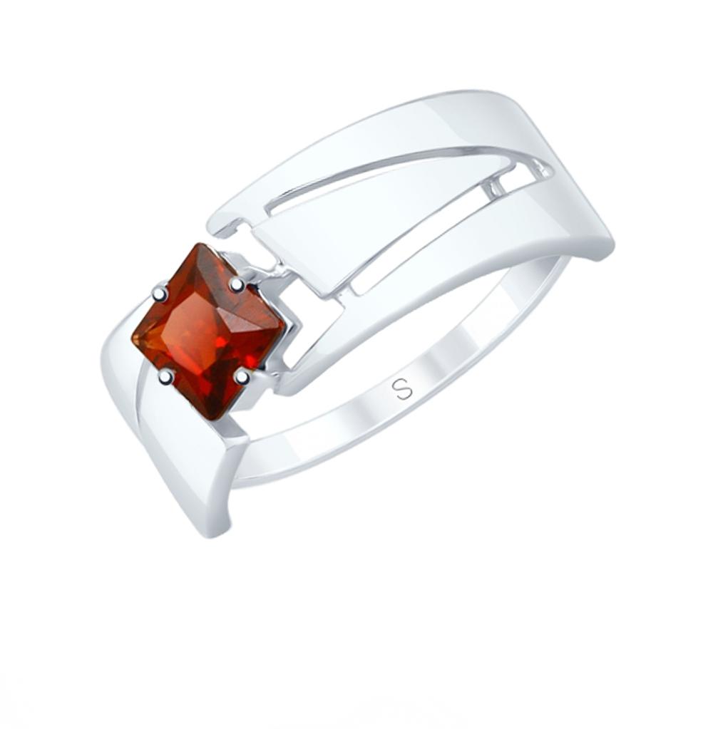 серебряное кольцо с гранатом SOKOLOV 92011828