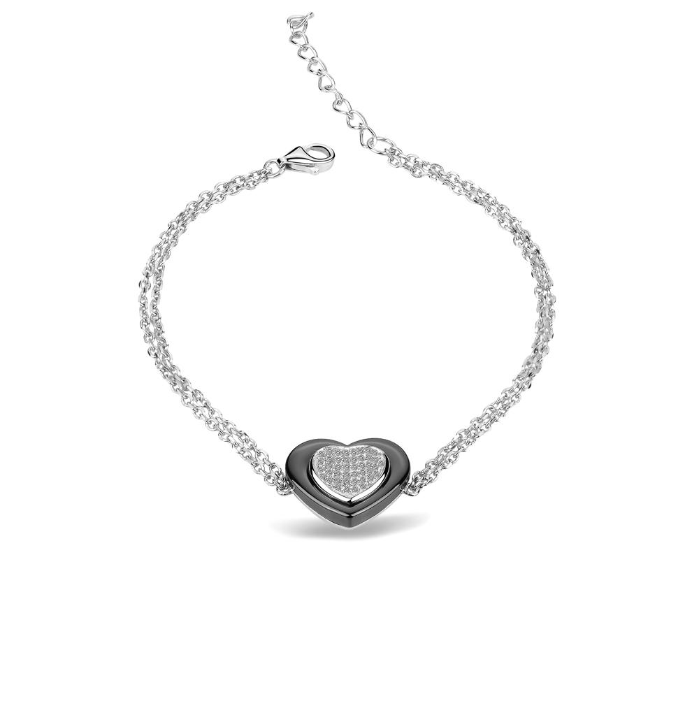 Фото «браслет из керамики и серебра с фианитами»