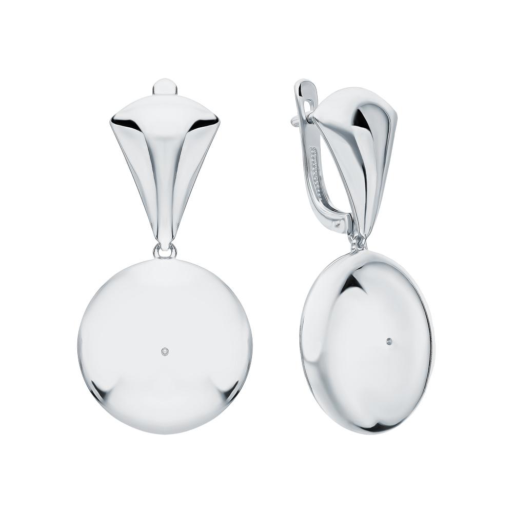 Серебряные серьги с бриллиантами в Екатеринбурге