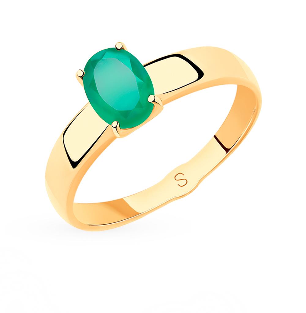золотое кольцо с агатом SOKOLOV 715477*