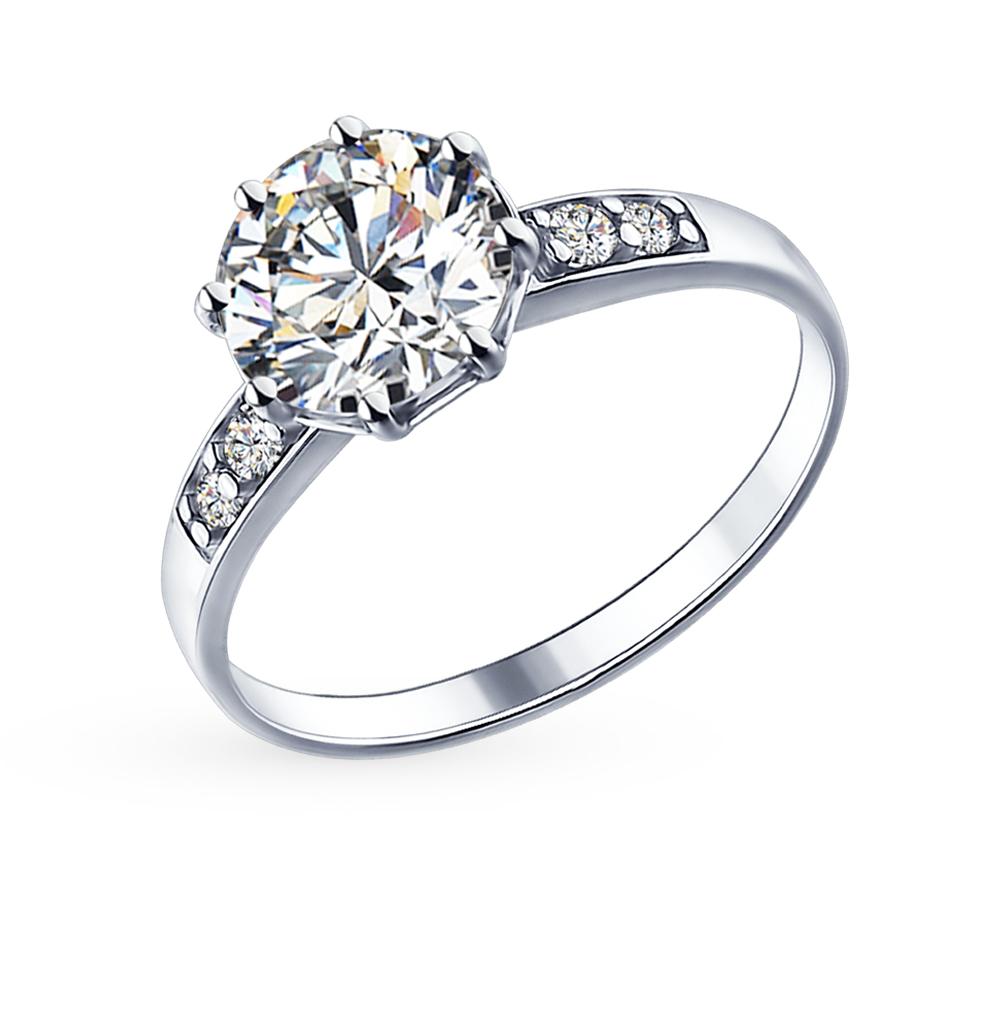 серебряное кольцо с фианитами SOKOLOV 89010014