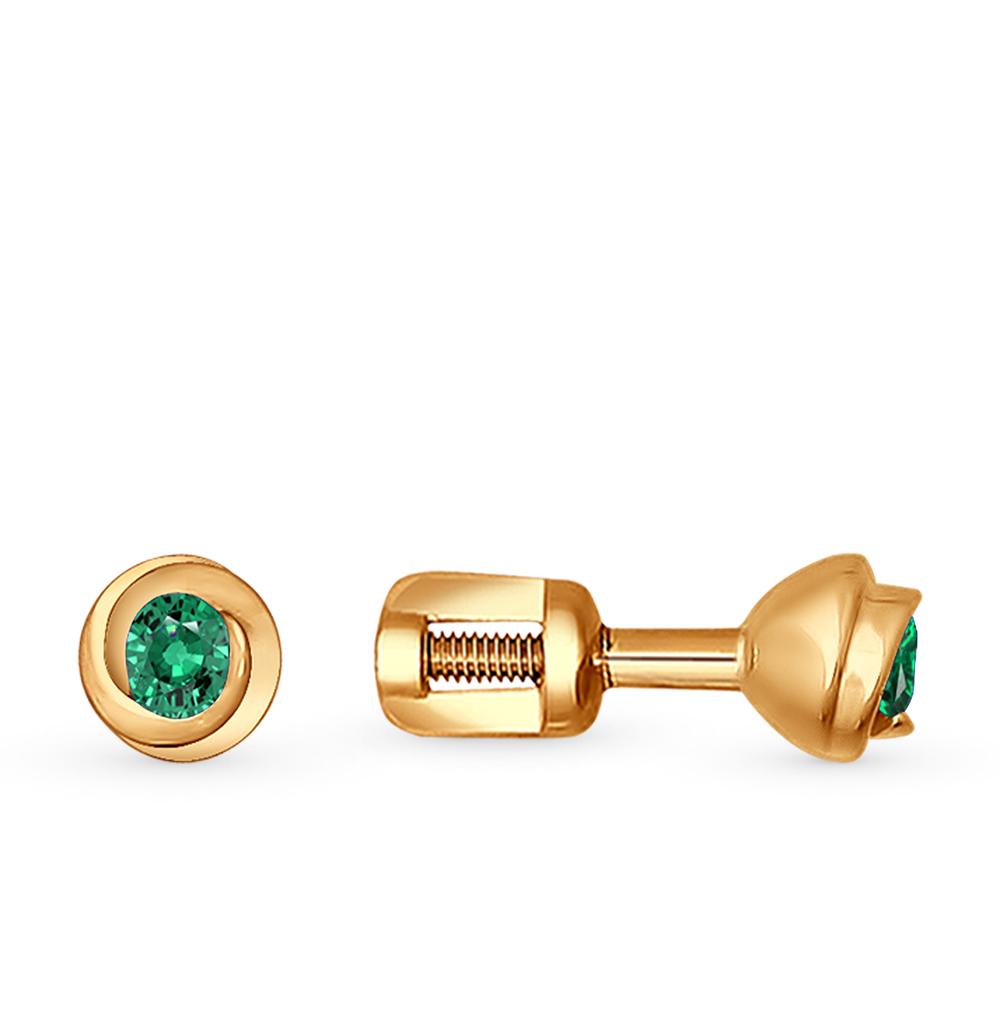 Фото «золотые серьги с изумрудами»