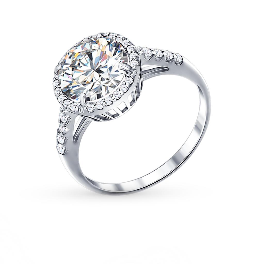 Серебряное кольцо с фианитами SOKOLOV 94011237  белое серебро 925 ... 30fc3aaa76d