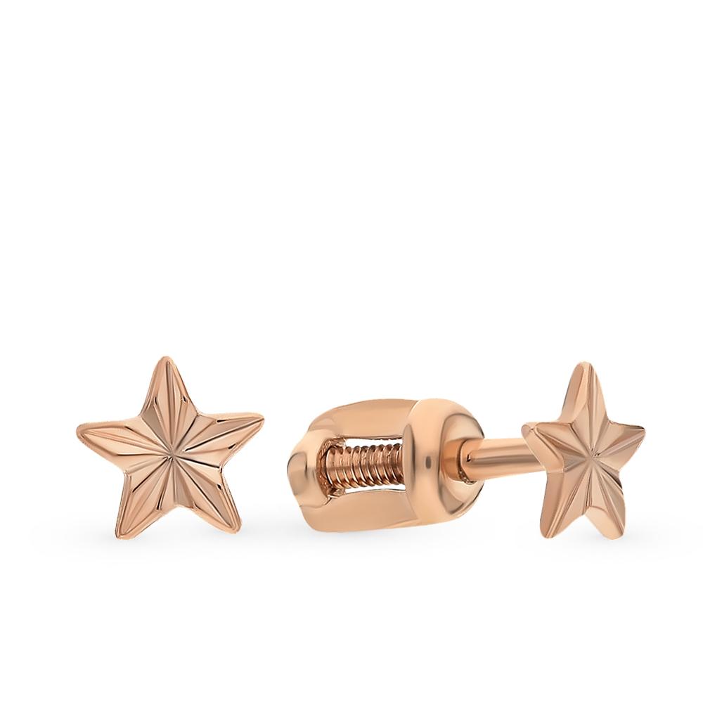 золотые серьги SOKOLOV 022198*