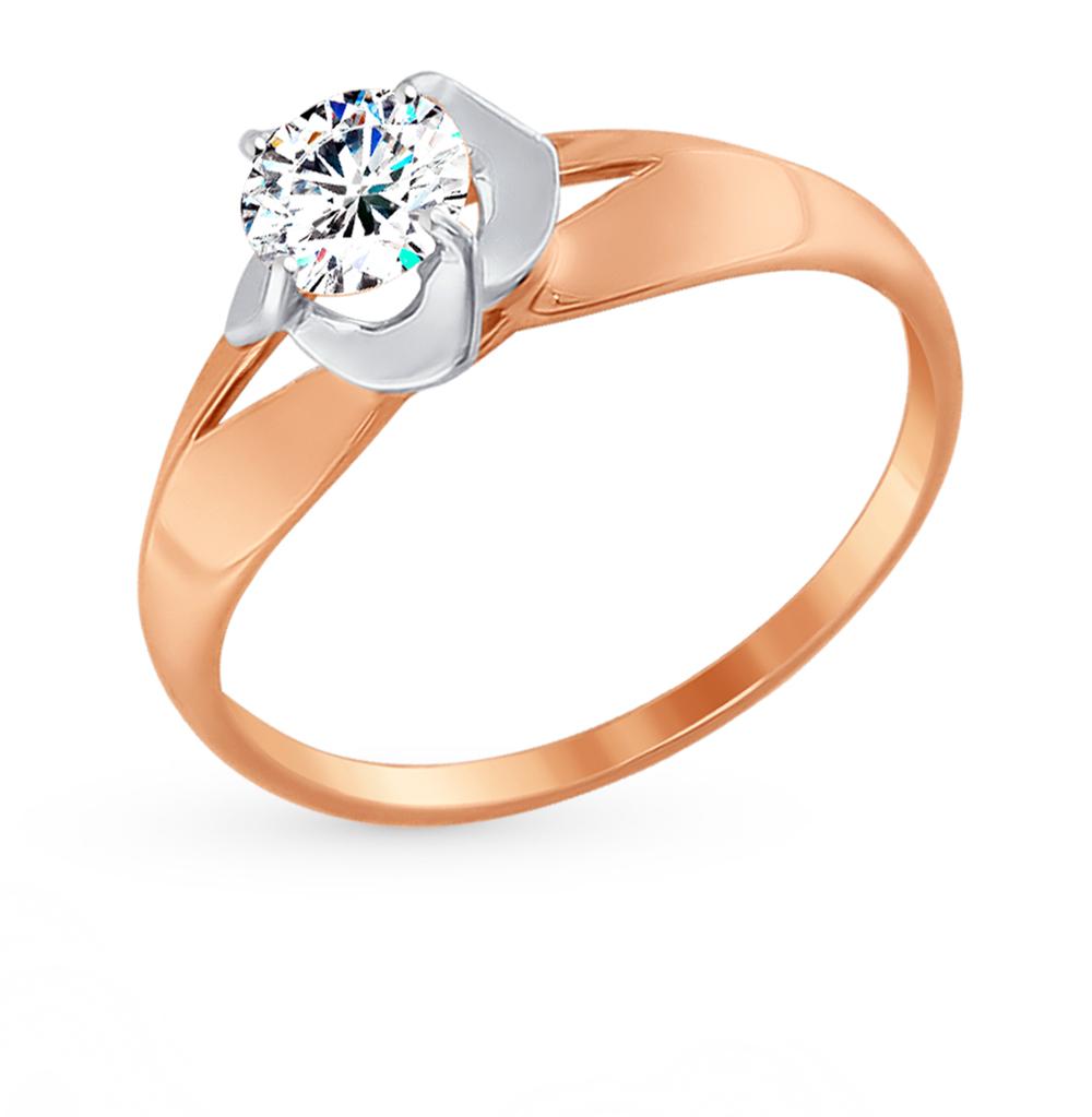 золотое кольцо с фианитами SOKOLOV 017396*