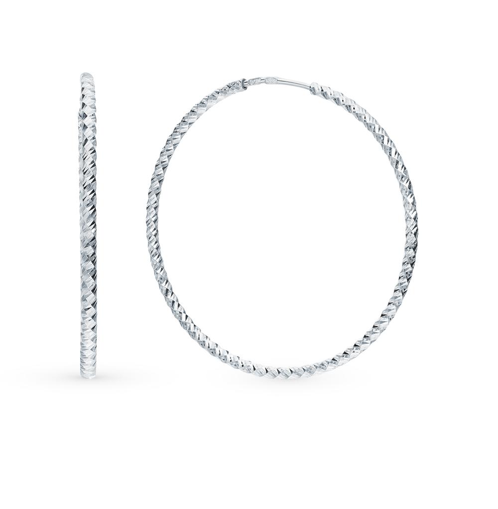 серебряные серьги SOKOLOV 94140032