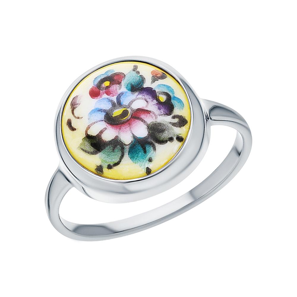 Фото «Серебряное кольцо с финифтью»