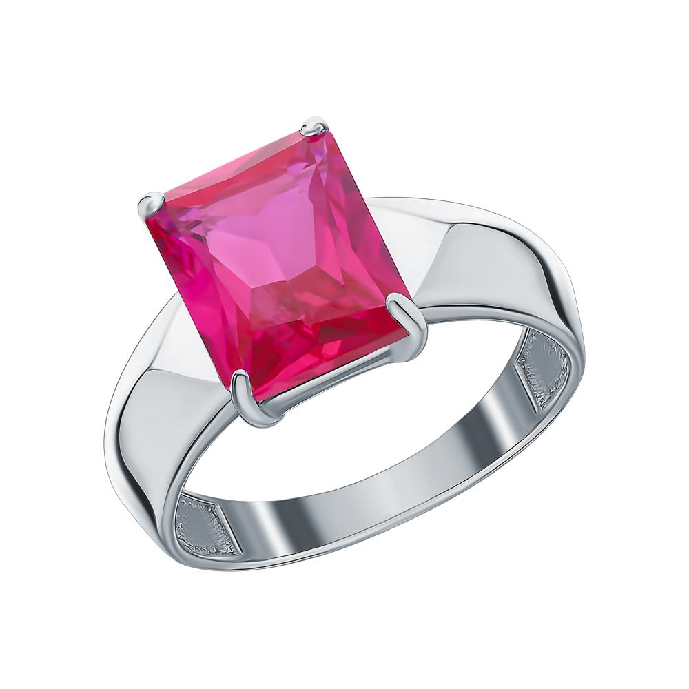 Серебряное кольцо с рубинами синтетическими в Екатеринбурге