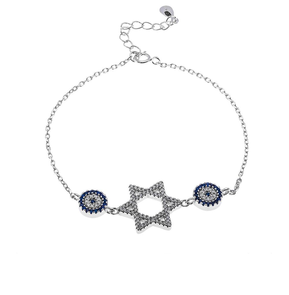 Фото «серебряный браслет с фианитами и шпинелями синтетическими»
