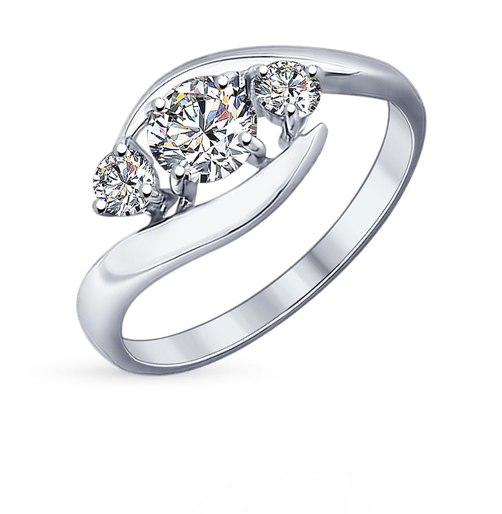 серебряное кольцо с фианитами SOKOLOV 89010040