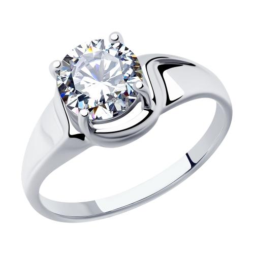 Фото «Серебряное кольцо с фианитами SOKOLOV 94012878»