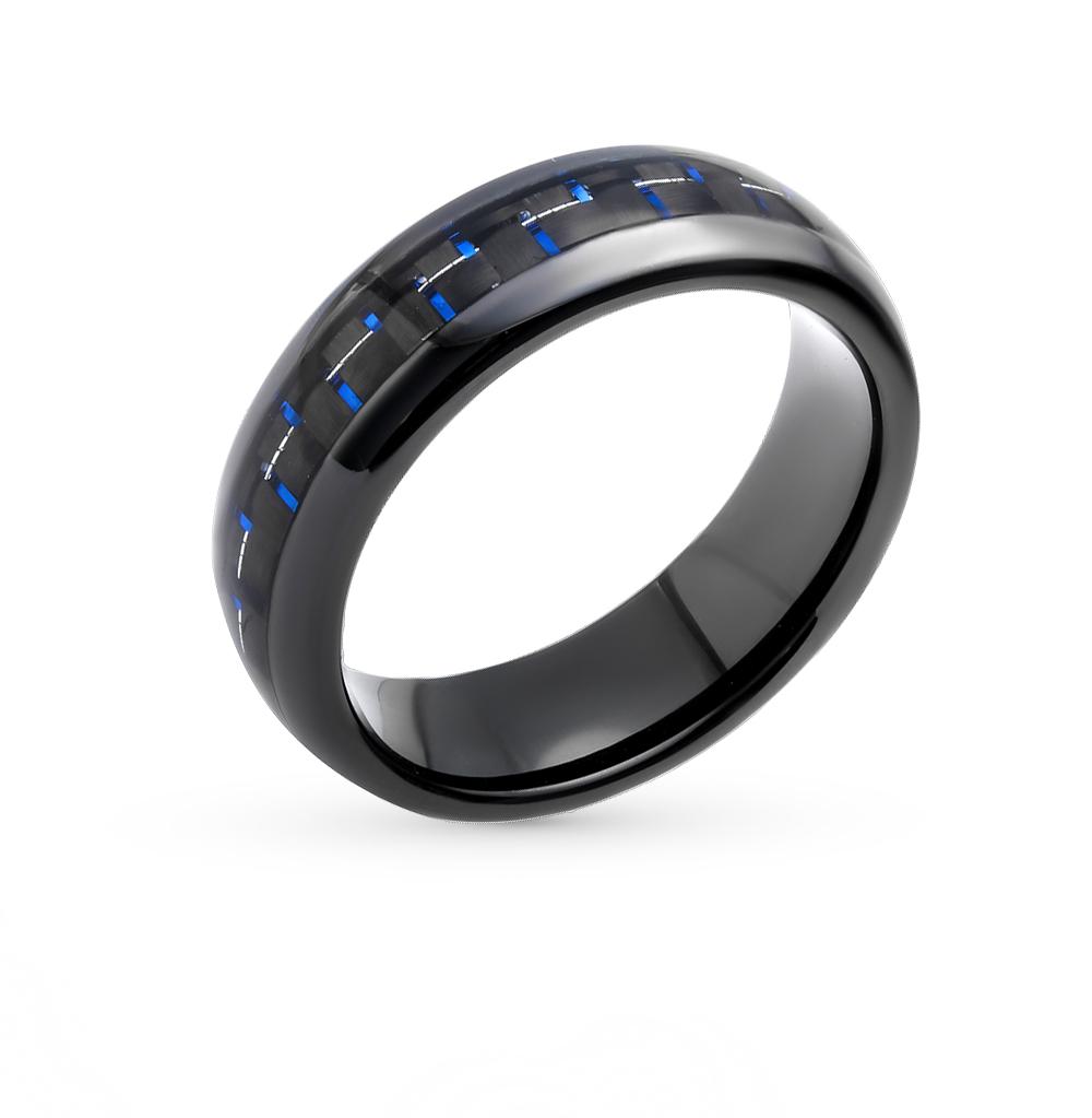 Фото «стальное кольцо с вольфрамом и карбоном»