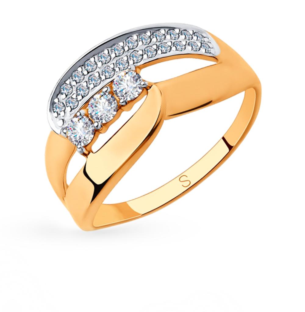 Фото «Золотое кольцо с фианитами SOKOLOV 018299»