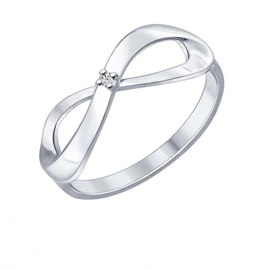 серебряное кольцо с бриллиантами SOKOLOV 87010012