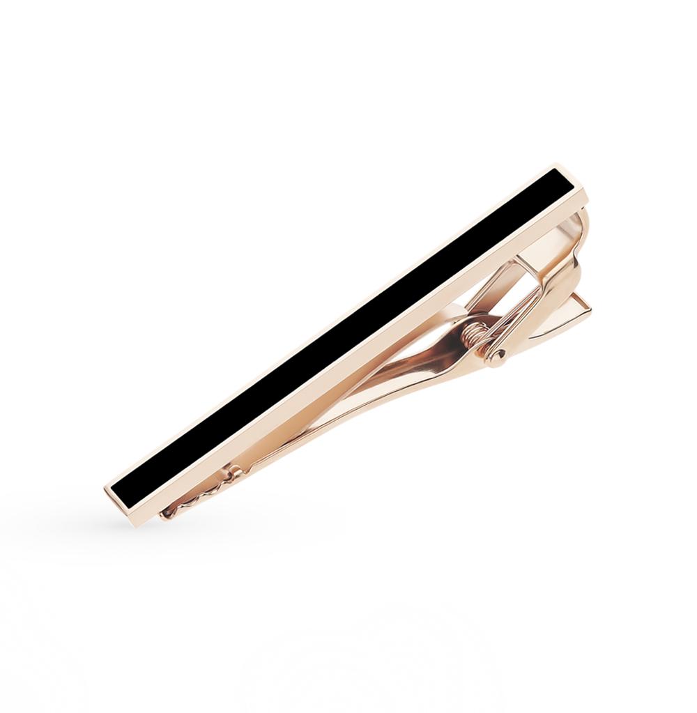стальной зажим для галстука с эмалью