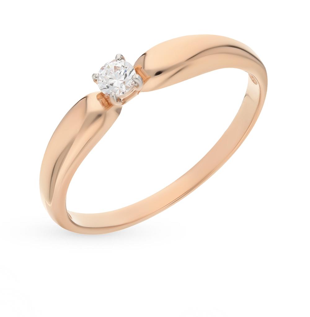 золотое кольцо с фианитами SOKOLOV 81010243*