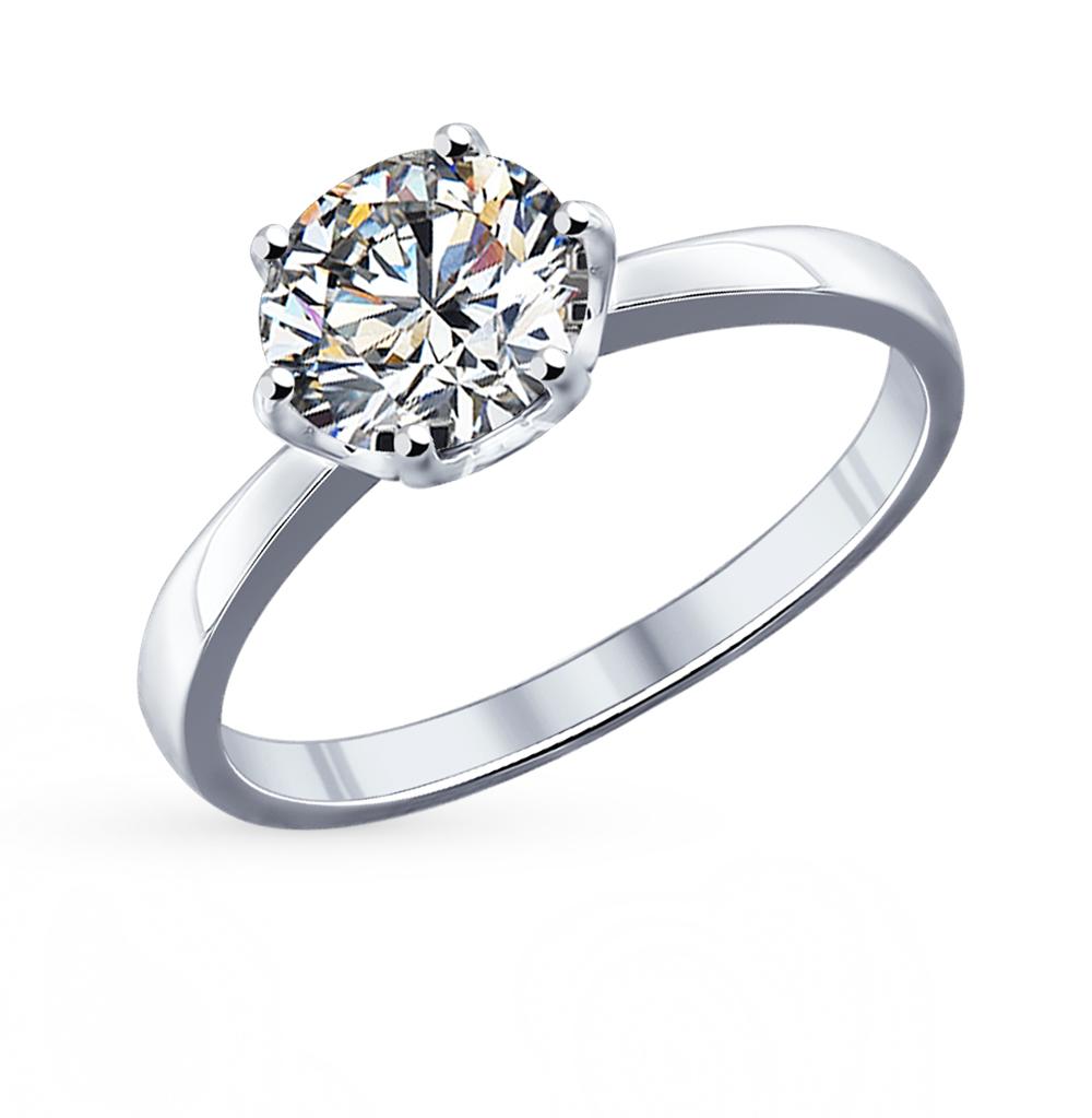 серебряное кольцо с фианитами SOKOLOV 94011741