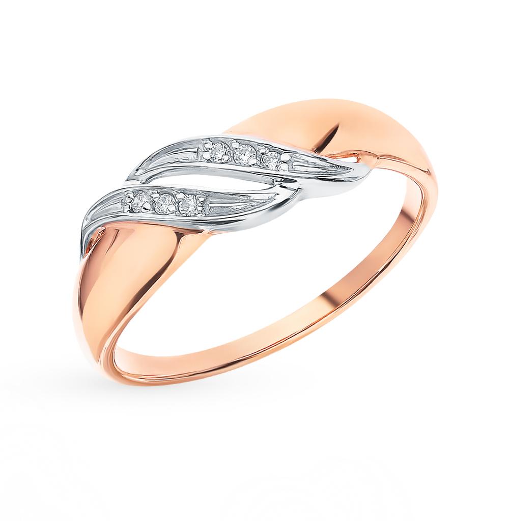 золотое кольцо с фианитами SOKOLOV 51-110-00033-1*