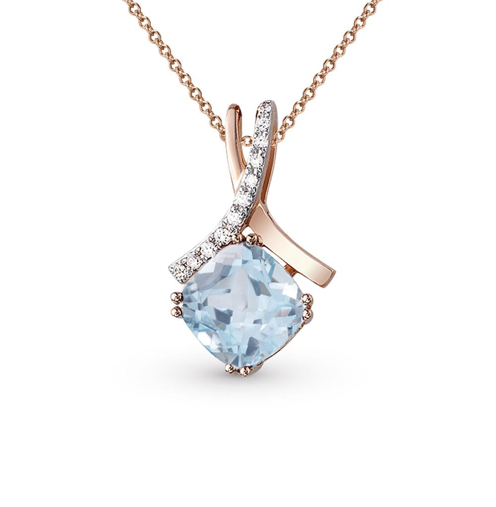 Фото «золото подвеска с топазами и бриллиантами»