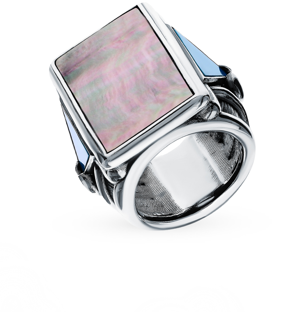Фото «Серебряное кольцо с бирюзой и перламутром»