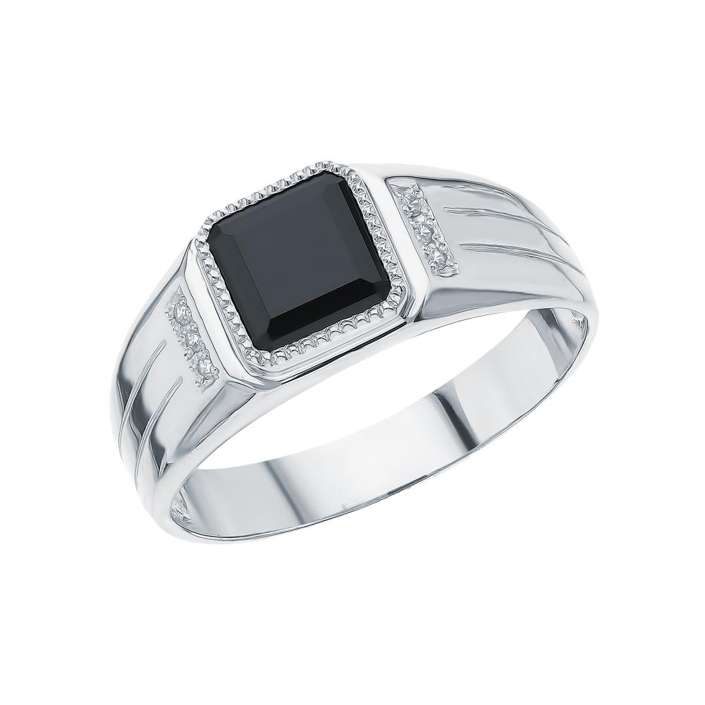 Серебряное кольцо с фианитами и наношпинелями в Санкт-Петербурге