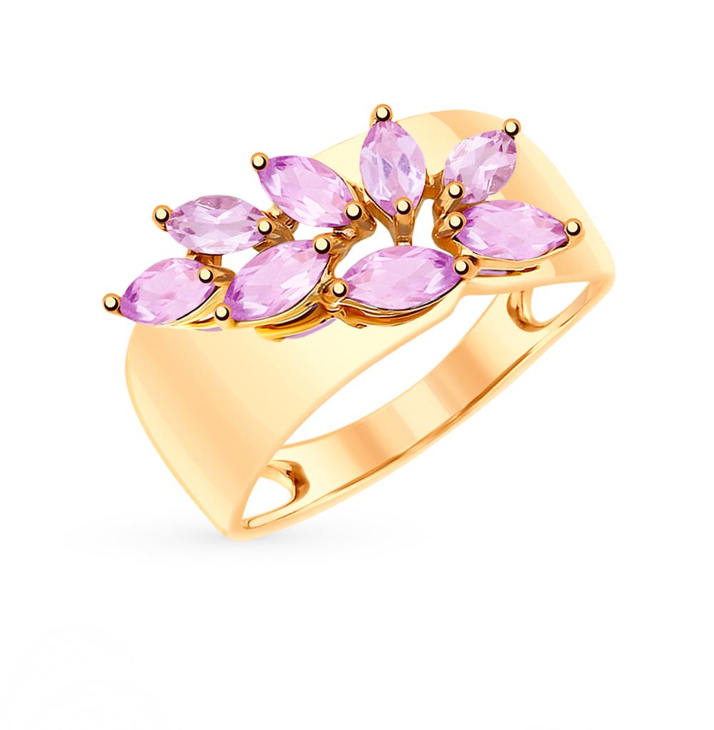 золотое кольцо с аметистом SOKOLOV 715208