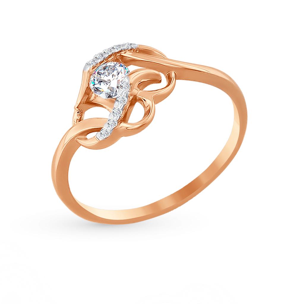 Золотое кольцо с фианитами SOKOLOV 015488 в Екатеринбурге
