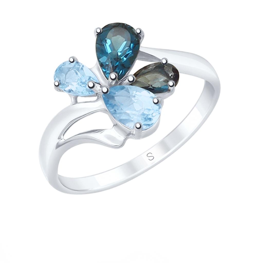 Фото «Серебряное кольцо с топазами SOKOLOV 92011824»