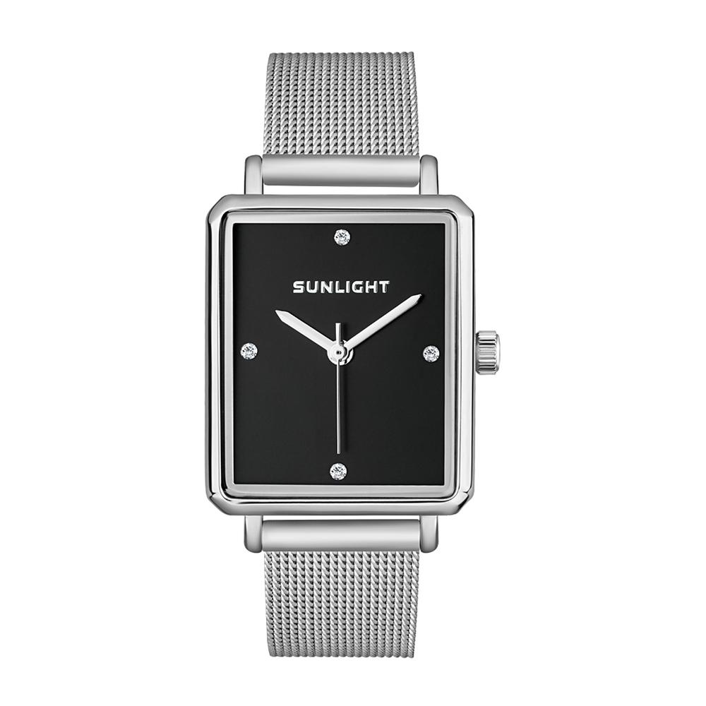 Фото «Прямоугольные женские часы на миланском браслете»