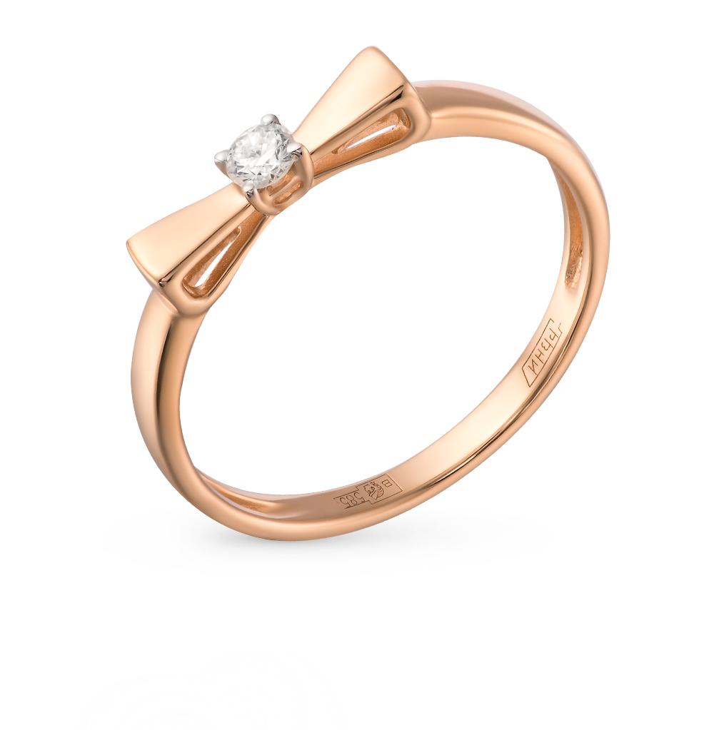 золотое кольцо с бриллиантами SOKOLOV 1011350