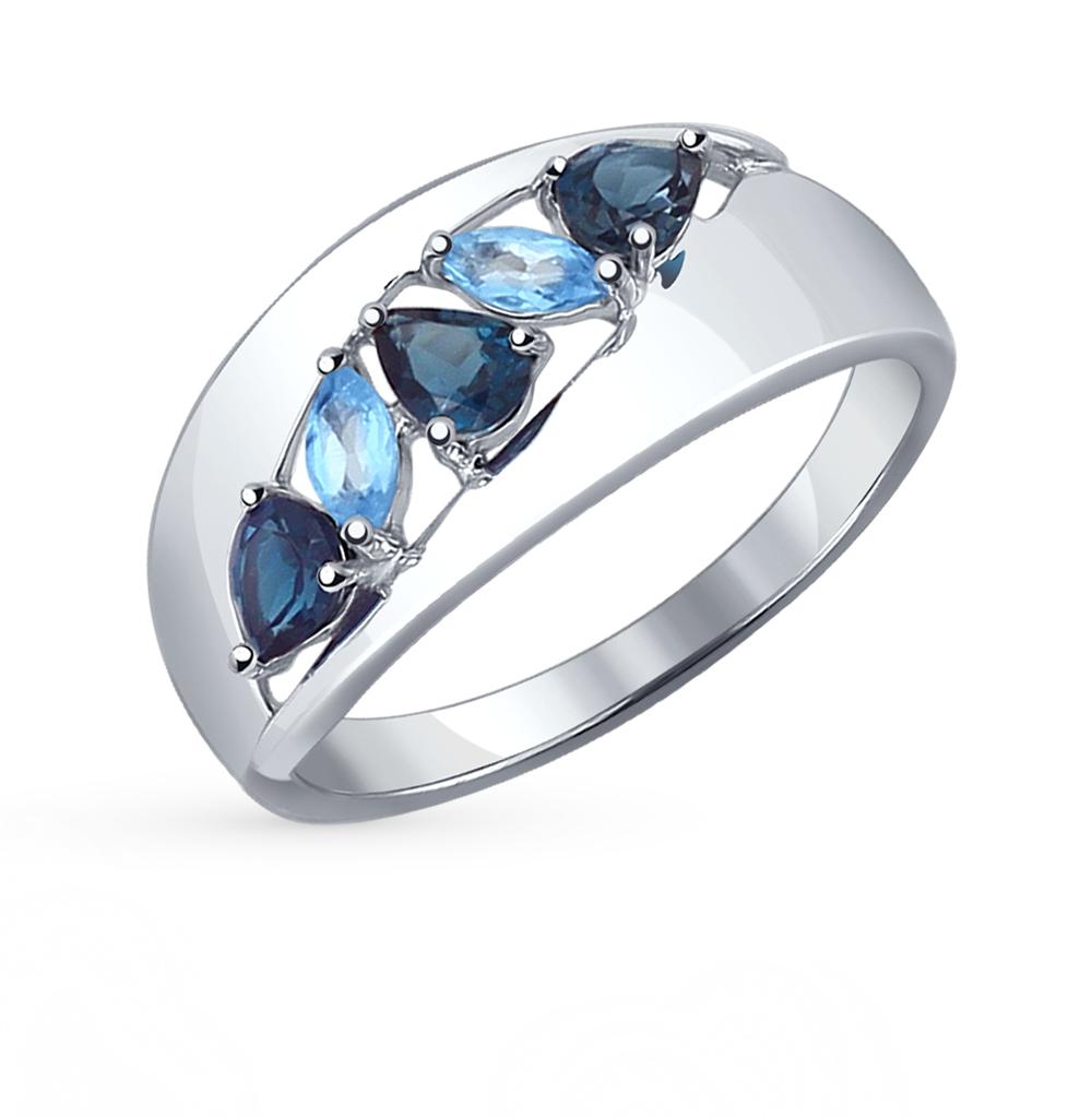 серебряное кольцо с топазами SOKOLOV 92011102