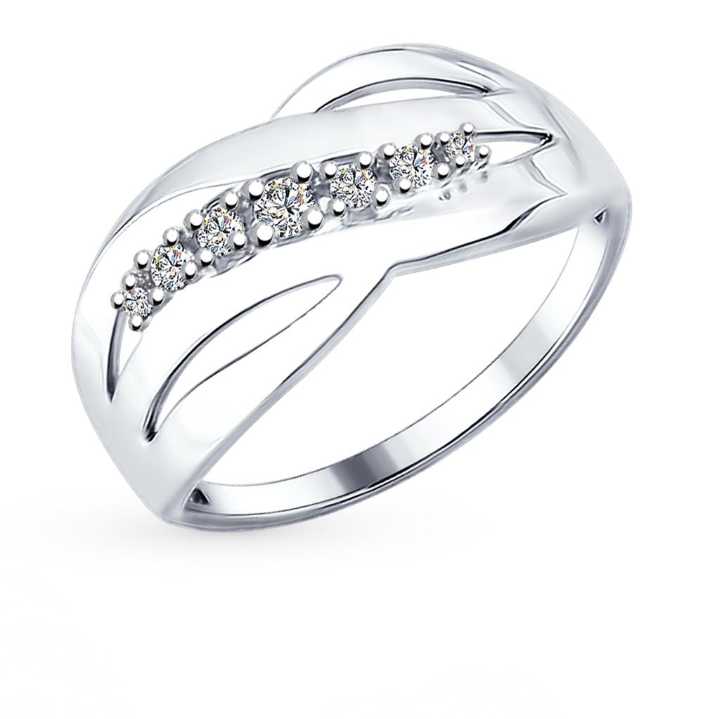 серебряное кольцо с фианитами SOKOLOV 94012170